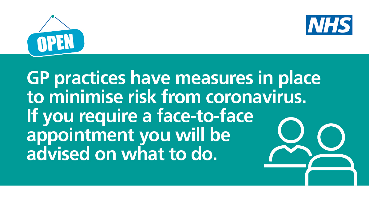 GP practices have measures in place to minimise risk from Coronavirus